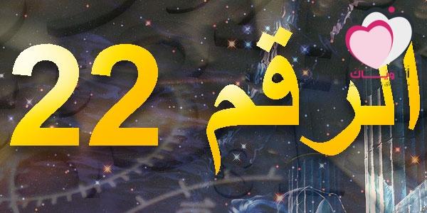 خصائص الأرقام  خصائص مسار الحياة الرقم 22